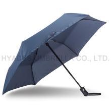Wind Resistant Navy 3 Folding Umbrella