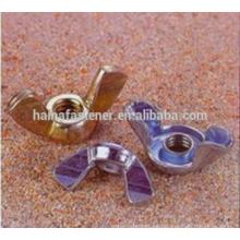Tuerca de mariposa de acero al carbono m3-m12 con zincado