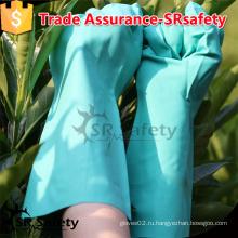 SRSAFETY nitrile промышленные перчатки, 13inch flocklined, алмазная рукоятка на ладонной перчатке.