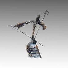Eastern Bronze Sculpture The Erhu Decor Brass Statue Tple-006