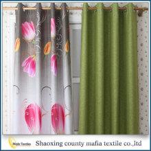 China-Großverkauf späteste Entwurf dekorative Verdunkelungsblumenvorhänge druckten