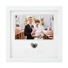 Custom wholesale new Designs 8x10 Silver wooden Wedding Picture Frame with black frame for home decoration