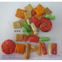 hot Japanese rice crackers snack