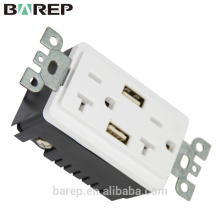 BAS20-2USB ULand CUL listed receptacle with USB