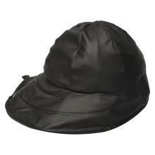 Black PU Rain Hat /Rain Cap/Raincoat for Adult