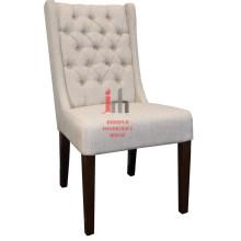 Cream High Back Dining Chair