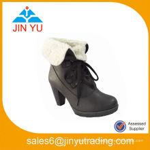 Zapatos de la plataforma del tobillo de la nieve de los altos talones de las mujeres