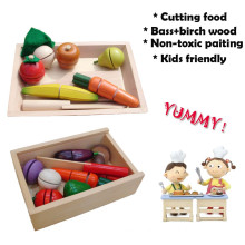 Wooden Play Cutting Vegetable Toy