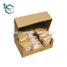 Kleiner Fabrik-Preis aufbereiteter Verpackungskaffeekasten mit Schaum-Einsatz