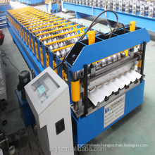 Novel design of 750 trapezoidal roof panel roll forming machine