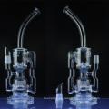 Tubo de agua de reciclaje de vidrio para fumar con rociador Perc (ES-GB-036)