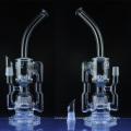 Tubes d'eau de recyclage de verre pour fumer avec sprinkler Perc (ES-GB-036)