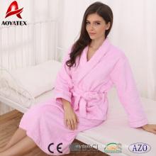 Großhandelsschlafwollbademantel mit 100% Baumwolle super weicher Frauen