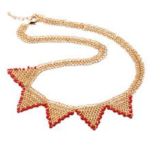 Moda de lujo antigua real chapado en oro collar o cadena de joyas -40935