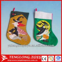 2014 nuevo tipo colorido y exquisito Impreso calcetín de Navidad