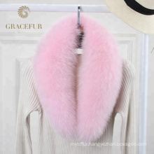Fashion detachable fox fur collar womens