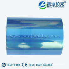 High Tempreture Transparent Green/Blue/Purple Medical Film Roll for Pouch /Reels Making