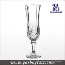 Coupe de verre classique en flûte à champagne pressée (GB040206ZS)