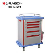 Chariot de médecine d'urgence de patient d'hôpital en plastique d'ABS Fournit le chariot de médecine