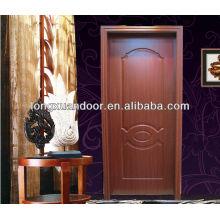 Simple Interior designer wooden doors mdf melamine wood door without painting