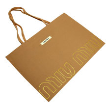 Fashionable cheap wholesale custom logo printing Matt Black packaging paper gift bag