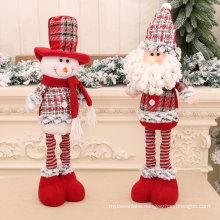 New Medium retractable doll Christmas old snowman doll Christmas gift Christmas decoration ornaments