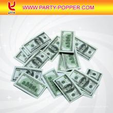 Confetti Cannon Tirant des billets en euros