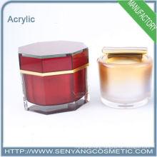 Round acrylic cosmetic Mini jar, small capacity packing bottle