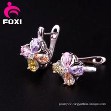 Promotion Price Gemstone Gold Earrings for Girls