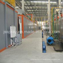 Sistema completo de pintura a pó para secções de alumínio