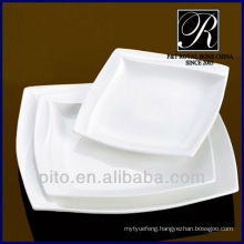 P&T porcelain factory kitchenware porcelain square plate