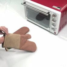 Hot Selling FDA Durable Oven Mitts Inner Cotton Kitchen Anti-Slip Heated Gloves
