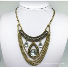 Pedra de vidro colar de corrente anti chapeamento (xjw13789)