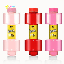 Hola-crazystore botella con forma de pesa de gimnasia portátil botellas de agua potable caldera de agua botella personalizada