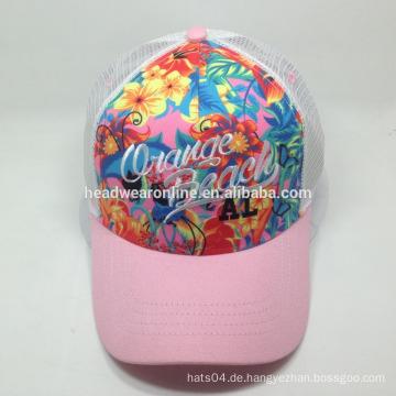 Kundenspezifische Fernlastfahrer-Hüte / Ineinander greifkappen Stickerei-Entwurfs-Logo-laufende Kappe