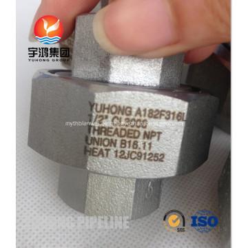 "A182 F316L 1/2 ""CL3000 Unión roscada NPT B16.11"