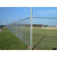 Cerca galvanizada do elo de corrente, usada para o portão de cerca, portões da exploração agrícola,