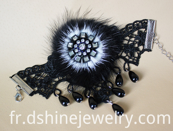 Black Crochet Lace Band