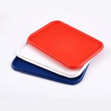 Rectangular anti-slip airline solid color plastic serving tray