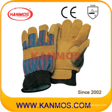 Cow Split Leather Industrial Safety Warm Winter Work Gloves (11303)