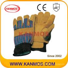 Корова Сплит-кожа Промышленная безопасность Теплые зимние рабочие перчатки (11303)