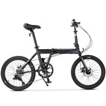"20"" 9s Black Aluminum Alloy Adult Folding Bike"
