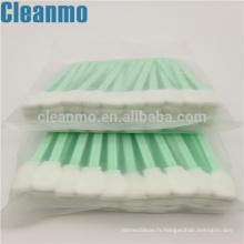 Les écouvillons de mousse de Cleanroom de CM-FS708 de poignée verte nettoient l'électronique d'éponge de peluche exempte de charpie / d'affichage à cristaux liquides / de carte PCB