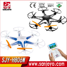 6-Axis Gyro 3D Rolls Headless RC Quadcopter with wifi FPV rc Hexacopter 6 Bladed Drone 4CH RC Quadcopter with Camera SJY-H806W