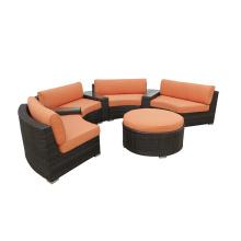 Outdoor PE Rattan Runde Sofa Möbel Set
