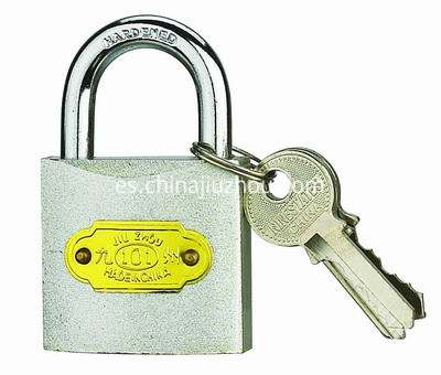 COLOUR IRON PADLOCK-SILVER-400