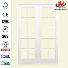 48 in. X 80 in. Smooth 10 Lite Solid Core Primed Pine Prehung Innenraum Französische Tür