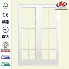 48 polegadas x 80 polegadas Suave 10 Lite Solid Prim Primed Pine Prehung Interior Porta Francês