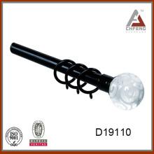 D19110 Threaded pattern crystal ball curtain rod finial,curtain rod