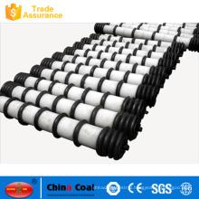 comb-shaped impact ilder roller for belt conveyor